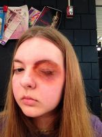 Black Eye Stage Makeup by Coffeedrinkingsquirr