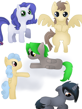 Adoptable ponies (1 and 4 OPEN) by DarkMetaWolf64