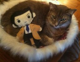 my cat and castiel by PuppiesLove