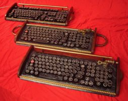 3 old input devices keyboards by woodguy32