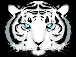 White Tiger Vectorization by Platynews