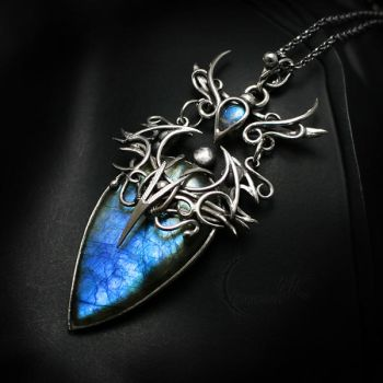 EXENTRILTH Silver and Labradorite by LUNARIEEN