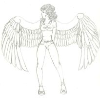 Angel Girl LINEART by ThatzThatz