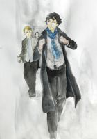 Sherlock Watercolour by Tio-Trile