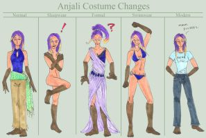 Costume Changes by Pointy-Eared-Fiend