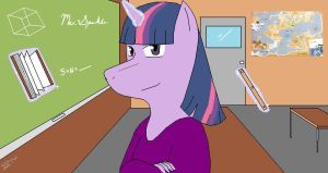 Twilight Sparkle's Classroom by Kyuubichowderfan