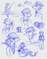Basil sketchdump by VirtualManectric