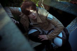 Eren Jaeger: In the Shadow of a Titan by CafeGrimm