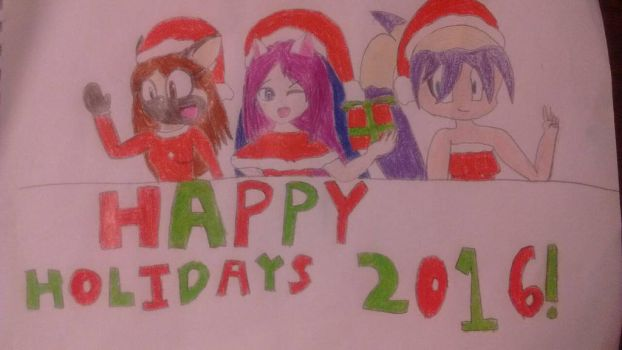 Merry Christmas 2016! by StarkittyTheSonicFan