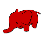 red elephant for 404 by truecrime82