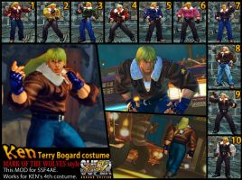 SSF4AE KEN Terry 'Mark of the Wolves' costume MOD by dsFOREST