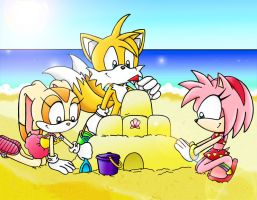 Summer and Sandcastles by Jade-the-Tiger