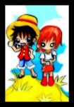 Luffy and Nami by KawaiiDarkAngel