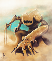 Sandstorm colossus by kiynley