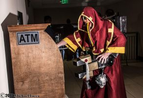 Adeptus Mechanicus Techpriest with an ATM 1 by Insane-Pencil