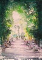 Borghese gardens Rome by milanglo