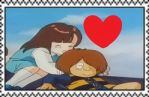 Kitaro + Yumeko stamp by J-Cat