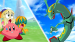 Kirby and Rayquaza Wallpaper by scott910
