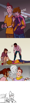 College Camp AU-welp. thanks, jas by R-A-Enbows