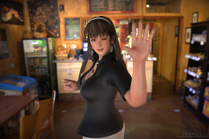 Hitomi in the Cafe by Konos-P