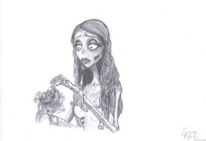 Corpse Bride with bouquet by Emily89