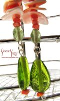 CORAL AND SHELL EARRINGS 2 by simoneyvette