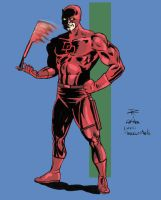 Daredevil from the ole Marvel Universe books. by cerebraleye