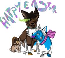 HAPPEH EASTER 2012 by opaleyedwolf