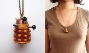 Dalek necklace by curry-brocoli