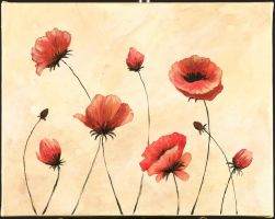 Red Poppies by RedRowanDesigns