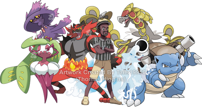 Commission - Terrill's Pokemon Team by Tails19950