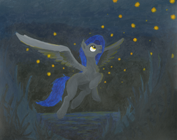 Fireflies painting by Bernd01