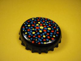 Black, yellow, red and blue badge 2. by elniniodelaschapas