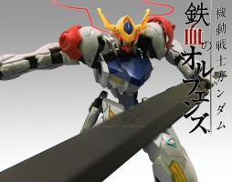 Gundam Barbatos Lupus Wallpaper Red Eyes ver by TSURUGIKNIGHT
