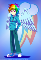 Human Rainbow Dash by InuHoshi-to-DarkPen