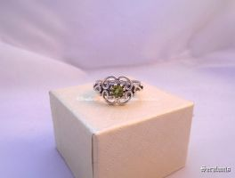 'Forest flower' handmade sterling silver ring by seralune