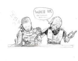 Shepard and the chief by RandomGuyFromEarth