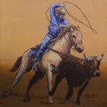 Calf Ropin' Cowboy by spudsy2