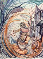 The dance of the Waves by AniaMohrbacher