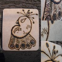 Pyrography- Peacock by Cattereia