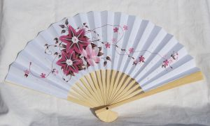 Painting on a Paper Fan by celebrindal15