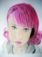 Hayley Williams Portrait by Koti-blue