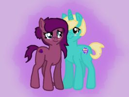 AstroLight and VioletHarvest by saphiresong98