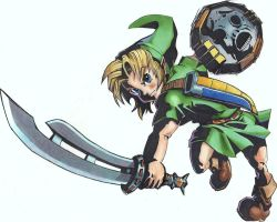 Majora's Mask - Link by philoSaraus