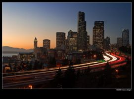 traffic thru downtown seattle by stranj
