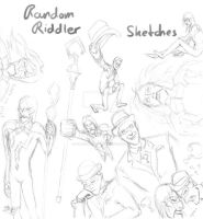 Random Riddler Sketches by millenium-night