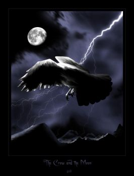 The Crow and the Moon by gsb