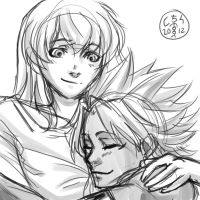 Deathshipping commisson sketch by thooruchan