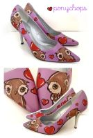 Owl Stilettos by ponychops