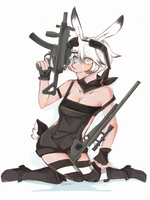 cutie with guns by carcarchu